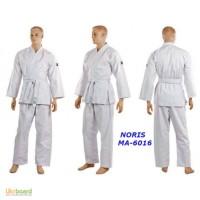 Кимоно для карате белое NORIS MA-6016 140-190см, плотность 270г на м2