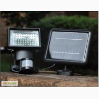 Прожектор на солнечной батарее 60 LED с датчиком движения, светильник