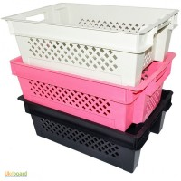 Ящики пластмассовые пищевые для творога яблок рыбы мяса овощей фруктов винограда, клубники
