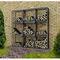 Хранение дров. Дровница для сада, участка, дома. Декор интерьера