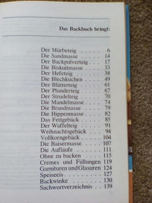 Фото 8. Книга рецептов выпечки (на немецком языке)
