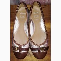 Кожаные туфли Clarks, 38-39р