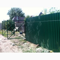 Ворота и калитки из профнастила, установка забора, профнастил заводской с доставкой