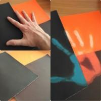 Купить ткань меняющая цвет от прикосновения, термохромная ткань для одежды, квест комнаты