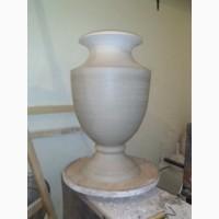 Большая напольная керамическая ваза (изготовление)