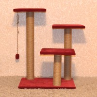 Игровой комплекс когтеточка с тремя столбами