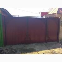 Ворота распашные из профнастила от компании Престиж Забор