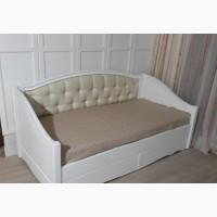 Деревянная кровать Скарлет заниженная без декора для мальчика