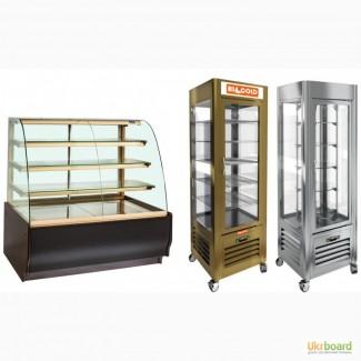 Кондитерские витрины и шкафы барные для магазина, кафе, бара, ресторана