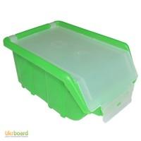 Пластмассовый ящик для метизов с крышкой 175 х 110 х 75 зеленый