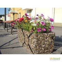 Вазоны садовые, цветочники парковые, цветники уличные, клумбы из бетона для цветов