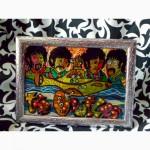 Витражная картина The Beatles. Желтая субмарина