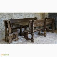 Комплект садовой мебели из массива натурального дерева