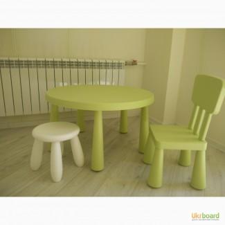 Детсикй комплект - Стол, стул и табурет Mammut ikea
