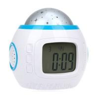 Настольные часы-будильник Music and Starry Sky calendar 1038 с проектором звездного неба