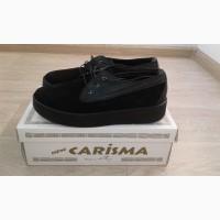 Женские туфли демисезонные со шнурками замшевые р 38, 39, 40