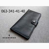 Кожаный кошелек клатч бумажник ручной работы кожа