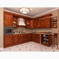 Деревянный кухонный гарнитур угловой для кухни Лиза