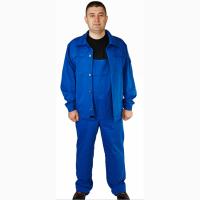 Костюм рабочий синий, куртка, полукомбинезон, 100% ХБ