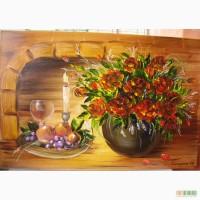 Картина маслом Троянди 40х60