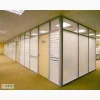 Пластиковые и алюминиевые перегородки для офиса или магазина.