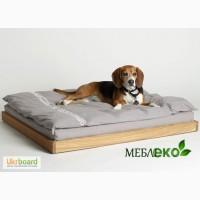 Лежак для щенка из натурального дерева, Кровать для собаки