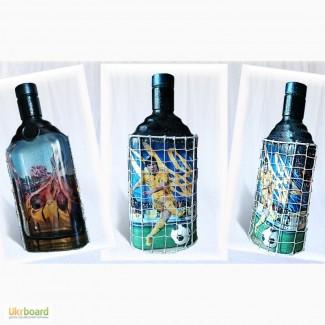 Футбольные сувениры в Украине, подарочное оформление бутылки Футбольному фанату