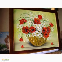 Картина маслом Польові квіти 50х40