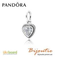 Оригинал PANDORA шарм бусина сверкающая любовь 390366CZ