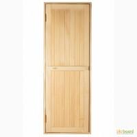 Деревянная дверь в баню, сауну