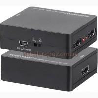 Сплиттер-коммутатор HDMI 2х1-1х2 двунаправленный пассивный