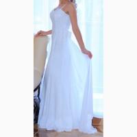 Продам белое платье в пол, выпускное, свадебное, вечернее