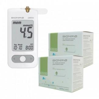 Глюкометр Bionime GM550 + тест полоски