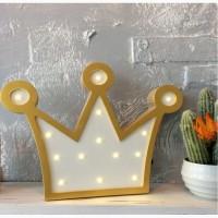 LED Светильник из дерева Корона