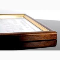 Рамка А4 дерево+золото фоторамка А4, 21х30 для грамот дипломов