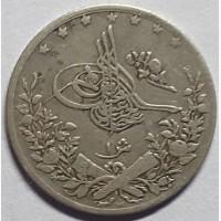 Египет 1 кирш 1884 год СЕРЕБРО!!! НЕ ЧАСТАЯ