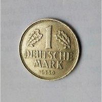 Монета.Страна Германия, DEUTSCHLAND, 1 DEUTSCHE MARK 1950 G