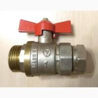 Кран шаровый Brass 59 1#039;#039; дюйм DN25 Ду25, Valve J.G. с переходником