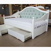 Деревянная кровать Скарлет софа с точеными боковинами