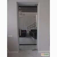 Маятниковые межкомнатные стеклянные двери