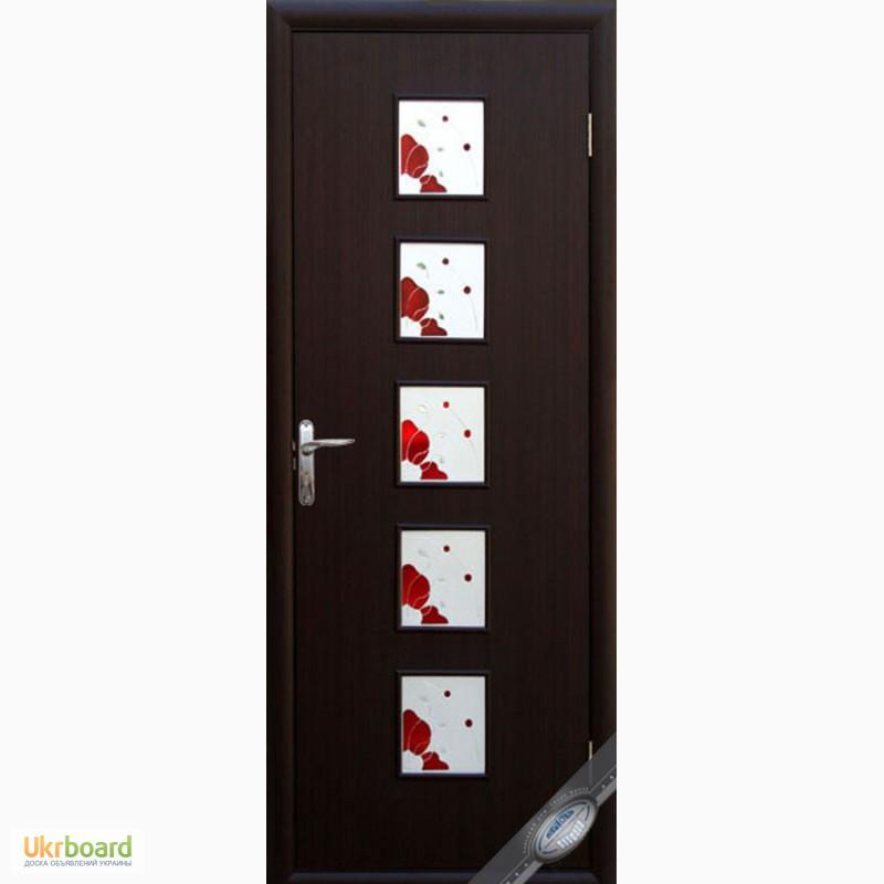 Двери с рисунком с коробкой