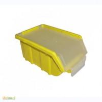 Пластиковый ящик для метизов с крышкой 175 х 110 х 75 желтый