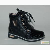 Демисезонные ботинки для девочек GFB арт.ST338 черный V с 27-30р