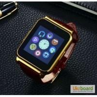 Смарт часы SmartWatch W90 с поддержкой сим-карт и кожаным ремешком