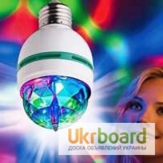 Светодиодная диско лампа Е 27 3Вт