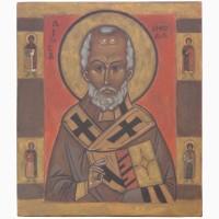 Продам рукописную православную икону «Николай Чудотворец» (список с иконы начала XIV века)