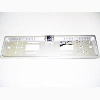 Камера с рамкой для номера серая с LED подсветкой