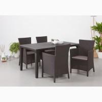 Стол и стул искусственный ротанг для дома сада и заведений