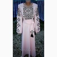 Плаття вишите, довге плаття, вишиванка
