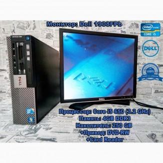 Тихий, надежный компьютер Dell 980 (i5/4GB/250Gb) с монитором. Гарантия 3 месяца